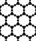 Vector modern naadloos meetkundepatroon, zwart-witte samenvatting Royalty-vrije Stock Afbeeldingen