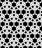 Vector modern naadloos meetkundepatroon, zwart-witte samenvatting Stock Afbeeldingen