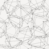 Vector modern naadloos patroon met lijnen en cirkels stock illustratie