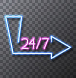 Vector modern neon sign on transparent background Royalty Free Stock Image