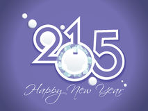 Vector modern 2015 new year background. Happy new year 2015 creative greeting card design Stock Images
