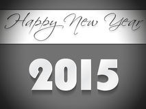 Vector modern 2015 new year background. Happy new year 2015 creative greeting card design Royalty Free Stock Photos