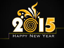 Vector modern 2015 new year background. Happy new year 2015 creative greeting card design Stock Photography