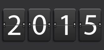 Vector modern new year 2015 background. Modern numeric scoreboard. Eps 10 Stock Photos