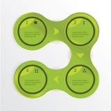 Vector modern ontwerpmalplaatje. Het programma van de informatie met ruimte voor uw tekst. Vier stappen. Stock Foto