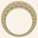 Vector modern ornament. Vector circular ornament in modern style. Drawing isolated on beige background stock illustration