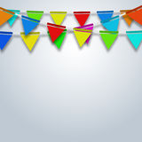 Vector modern party flags background. Royalty Free Stock Photos