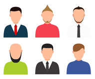 Vector modern people profile silhouettes set Stock Images