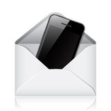 Vector modern phone in envelope Stock Images