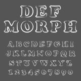Vector of modern playful font and alphabet royalty free illustration