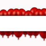 Vector modern red balloons on white Stock Photos