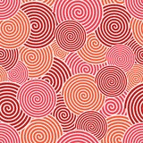 Vector modern red spiral seamless background vector illustration