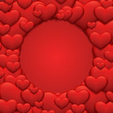 Vector modern red valentines day or 8 march Stock Images