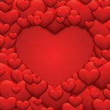Vector modern red valentines day or 8 march Royalty Free Stock Images