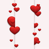 Vector modern red valentines day or 8 march Royalty Free Stock Image