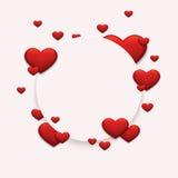 Vector modern rood valentijnskaartendag of 8 maart Royalty-vrije Stock Afbeeldingen