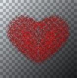 Vector modern rood valentijnskaartendag of 8 maart Royalty-vrije Stock Foto's