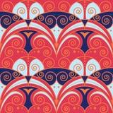 Abstract art retro seamless pattern. Vector modern round tiles pattern. golden lined shape. Abstract art retro seamless luxury background royalty free illustration