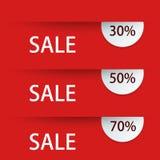 Vector modern sale discount set Stock Photo