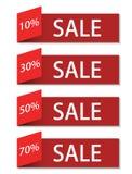 Vector modern sale discount set Stock Image
