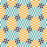 Vector modern seamless colorful geometry checkered pattern, color abstract Royalty Free Stock Photos
