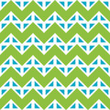 Vector modern seamless colorful geometry chevron lines pattern, color blue green abstract Stock Photography