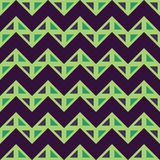 Vector modern seamless colorful geometry chevron lines pattern, color blue green abstract Stock Images