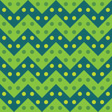 Vector modern seamless colorful geometry chevron lines pattern, color green abstract Royalty Free Stock Photo