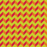 Vector modern seamless colorful geometry chevron lines pattern, color green orange abstract Royalty Free Stock Photography