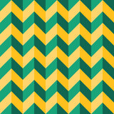 Vector modern seamless colorful geometry chevron lines pattern, color green yellow abstract Royalty Free Stock Photo