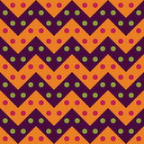 Vector modern seamless colorful geometry chevron lines pattern, color purple orange, abstract Stock Photo