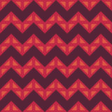 Vector modern seamless colorful geometry chevron lines pattern, color red abstract Royalty Free Stock Photos