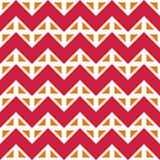 Vector modern seamless colorful geometry chevron lines pattern, color red white abstract Royalty Free Stock Images