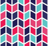 Vector modern seamless colorful geometry chevron pattern, color abstract royalty free illustration