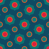 Vector modern seamless colorful geometry circle pattern, color abstract Stock Photography