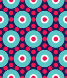 Vector modern seamless colorful geometry circle pattern, color abstract Stock Photo