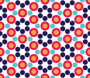 Vector modern seamless colorful geometry circle pattern, color abstract. Geometric background, pillow multicolored print, retro texture, hipster fashion design Royalty Free Stock Image