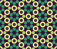 Vector modern seamless colorful geometry circle pattern, color abstract Royalty Free Stock Photography