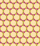Vector modern seamless colorful geometry circle pattern, color abstract Stock Image
