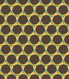 Vector modern seamless colorful geometry circle pattern, color brown abstract Stock Images