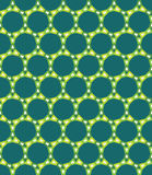 Vector modern seamless colorful geometry circle pattern, color green abstract Stock Photography