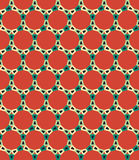 Vector modern seamless colorful geometry circle pattern, color red abstract Royalty Free Stock Photos