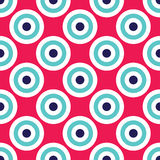 Vector modern seamless colorful geometry circles pattern, color abstract Stock Photos