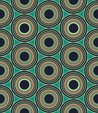Vector modern seamless colorful geometry circles pattern, color blue abstract Royalty Free Stock Photo