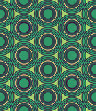 Vector modern seamless colorful geometry circles pattern, color blue abstract Stock Image