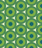 Vector modern seamless colorful geometry circles pattern, color green abstract Stock Image