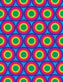 Vector modern seamless colorful geometry circles pattern, color rainbow abstract Stock Photo