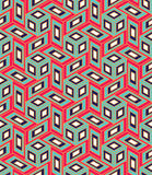 Vector modern seamless colorful geometry cube pattern, color abstract Stock Image