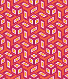 Vector modern seamless colorful geometry cube pattern, color abstract Royalty Free Stock Images