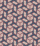 Vector modern seamless colorful geometry cube pattern, color abstract Royalty Free Stock Photo